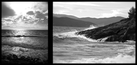 Elba island on winter: the sea