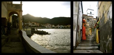 Elba island's streets