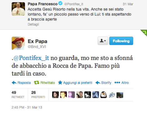 Il Papa su Twitter