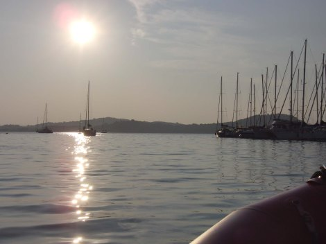 Porto di Talamone Toscana con l'alba