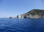 Tratto di costa verso l'Enfola isola d'Elba