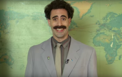 """Una scena del traile del film """"Borat"""""""